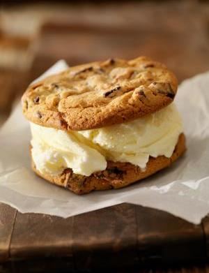 Chocolate Vanilla Ice Cream Sandwich