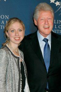 Chelsea Clinton and Bill Clinton
