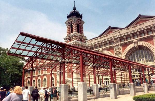 Visiting Ellis Island, New York