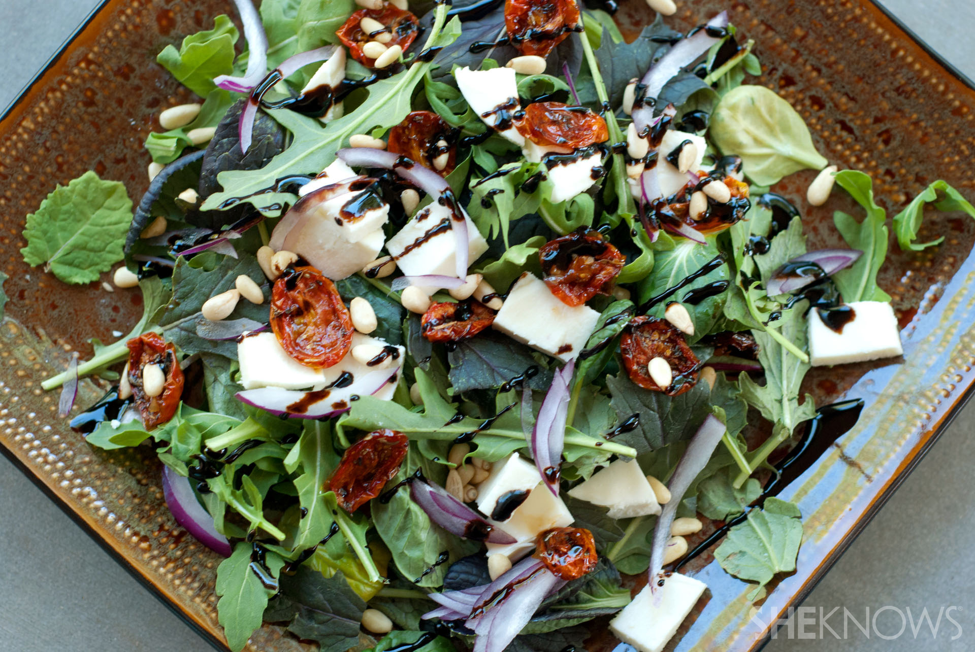 Blistered maple balsamic tomato salad recipe