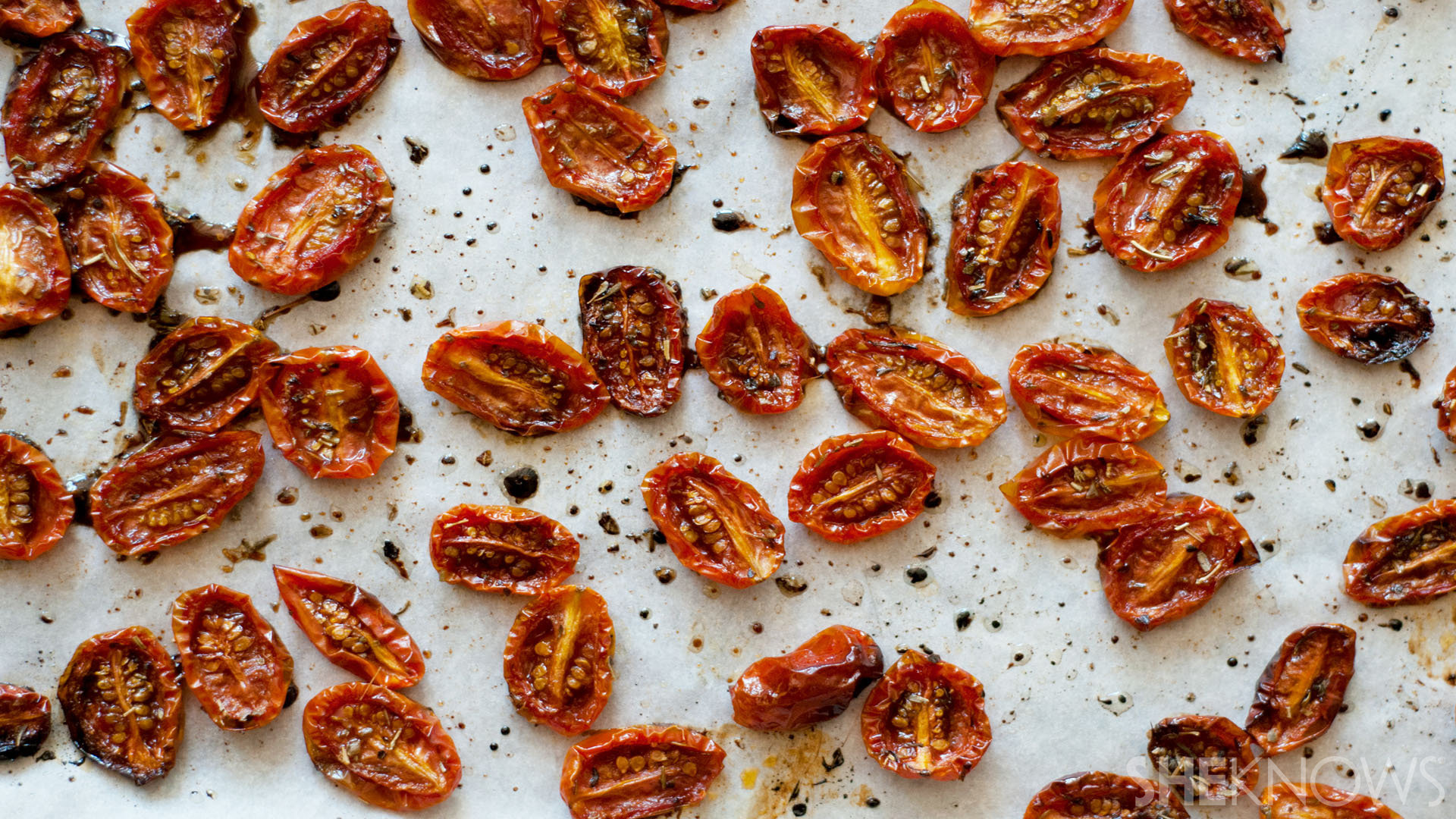 Blistered maple balsamic marinated tomatoes recipe