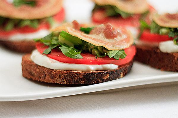 BLT tartine, an open-faced sandwich