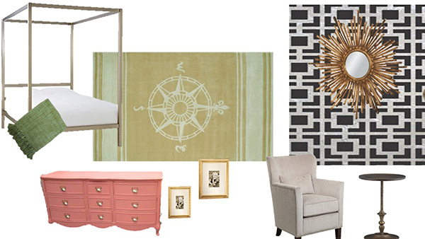 Blue and gold bedroom shopping list