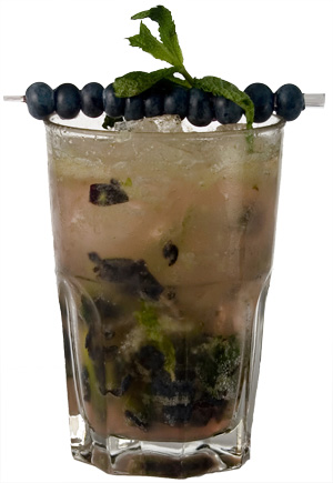Blueberry thyme cocktail