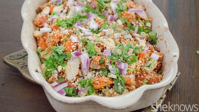 Sweet potato-quinoa casserole — a healthier
