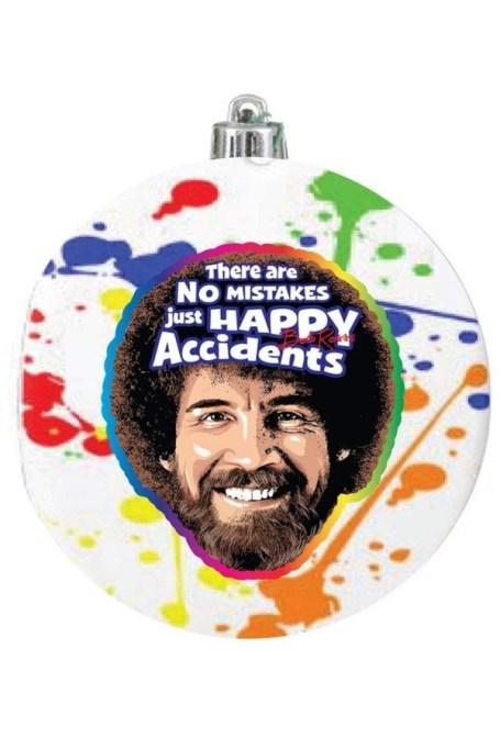 Bob Ross 'Happy Accidents' Ornament.