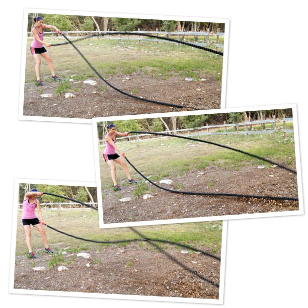 Combat Rope waves: