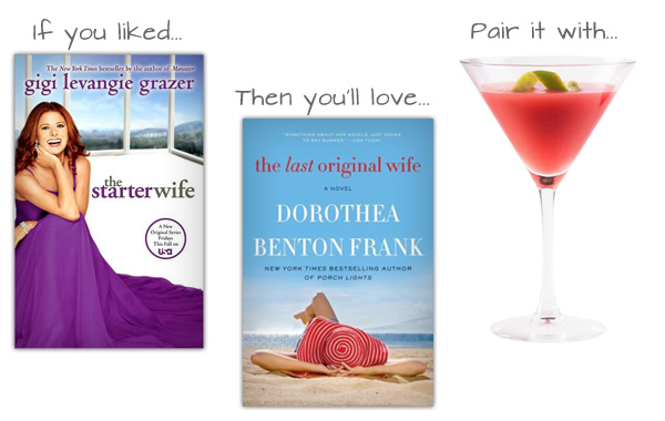 If you liked The Starter Wife then you'll love The Last Original Wife and pair it with a simple, original, straight-up Cosmo.