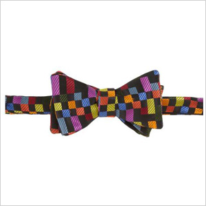 Box patterned bow tie