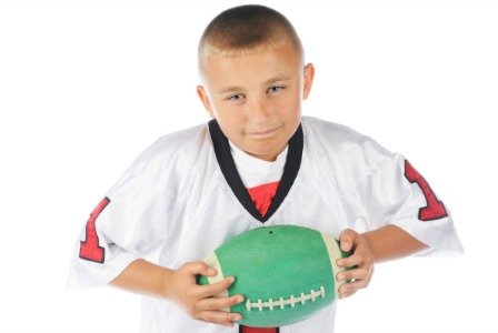 Boy with football