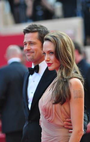 Brad and Angie at the Inglorious Basterds premiere in Cannes