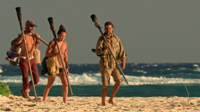 Brad Culpepper, Sarah Lacina and Troyzan Robertson on Survivor: Game Changers