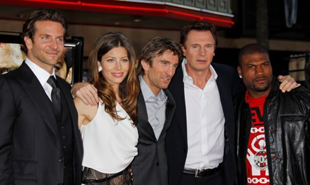 Bradley Cooper, Jessica Biel and The A Team cast at the film's premiere