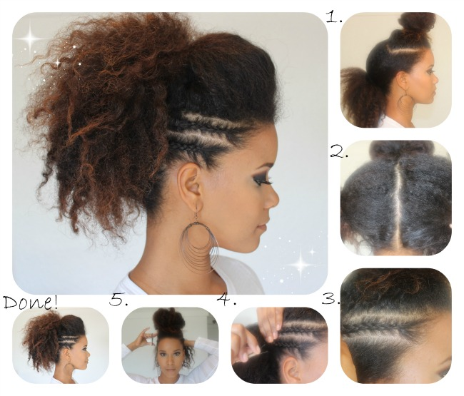 Faux Hawk Side Braid Tutorial