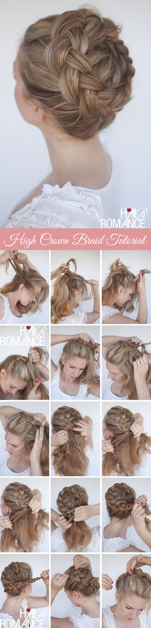 High Braided Crown Tutorial