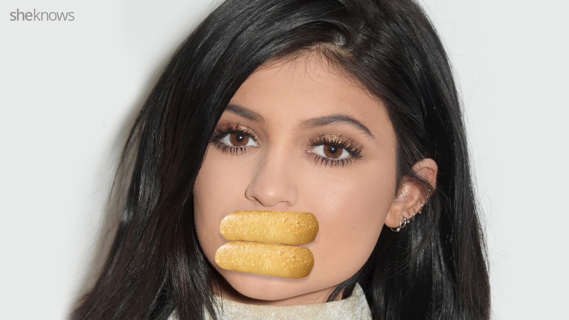 kylie jenner breadstick lips