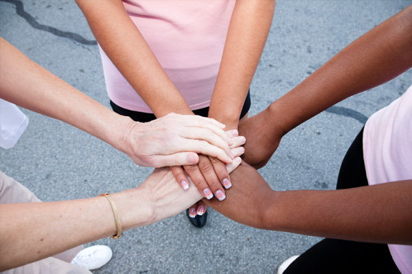 women rallying together