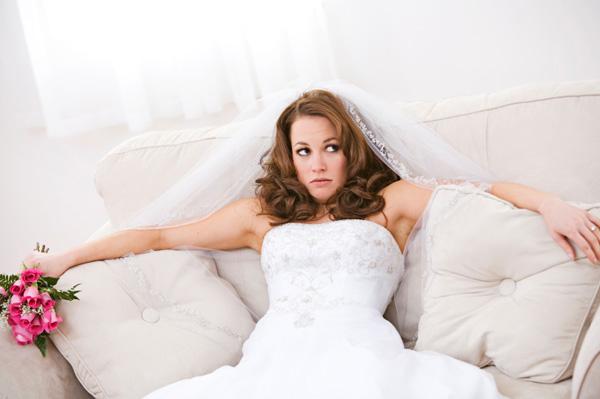 Bride having a wedding nightmare