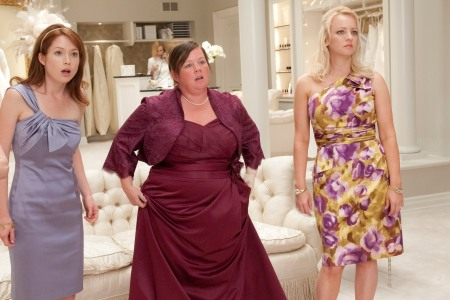 Ellie Kemper, Melissa McCarthy and Wendi McLendon-Covey in Bridesmaids