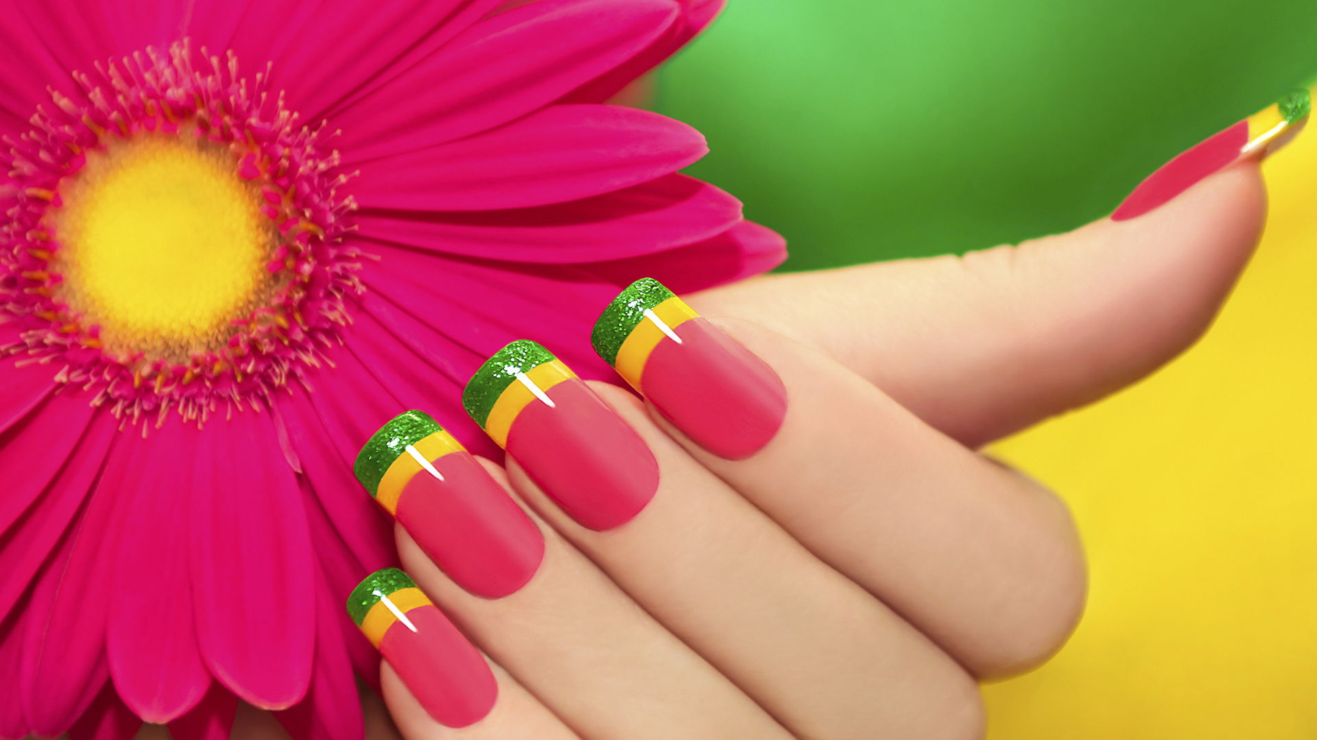 Brightly colored manicure   Sheknows.com
