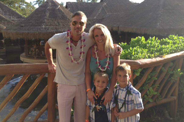 Britney Spears with Jason Trawick, Jayden and Sean