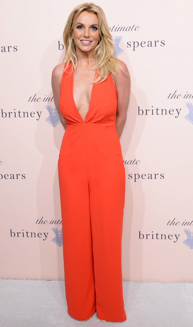 Britney Spears lingerie event NYFW