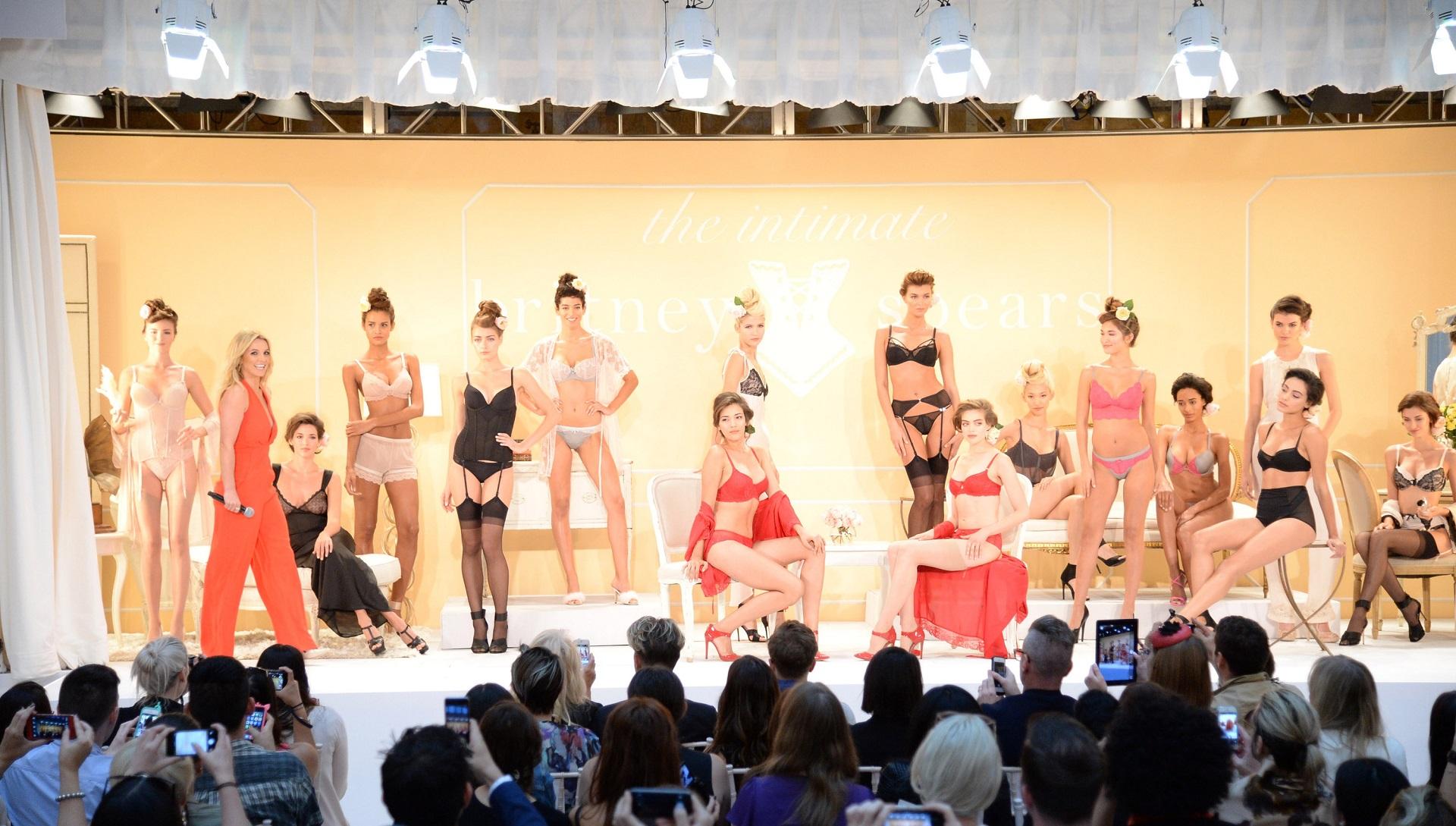 Britney Spears lingerie NYFW