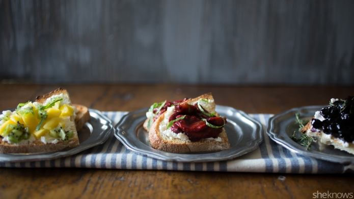 3 Fruity bruschetta recipes perfect for