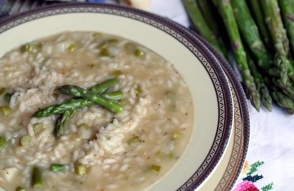 Pressure Cooker Asparagus Risotto
