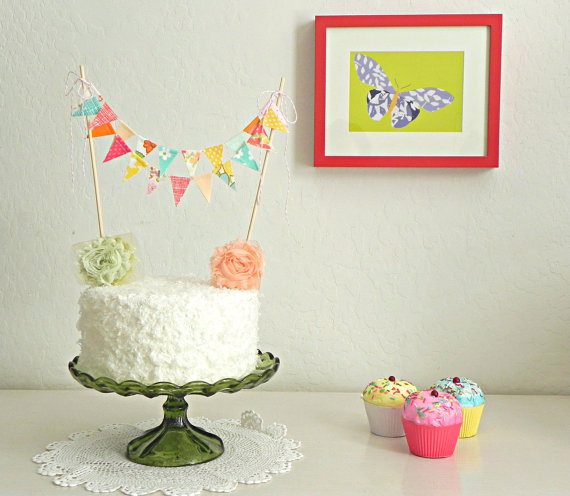 Bunting for a cake