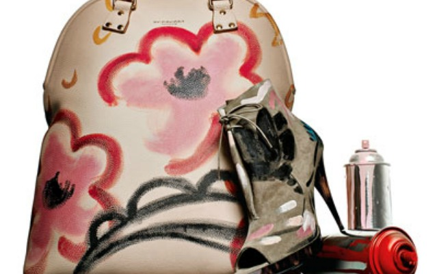 burberry painted bag and heel