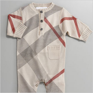 Burberry check jumper - Kate Middleton Royal Baby Gear