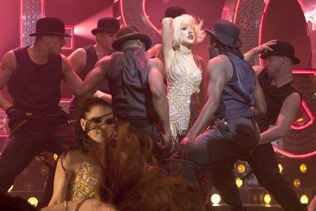 Burlesque star Christina Aguilera strikes a pose