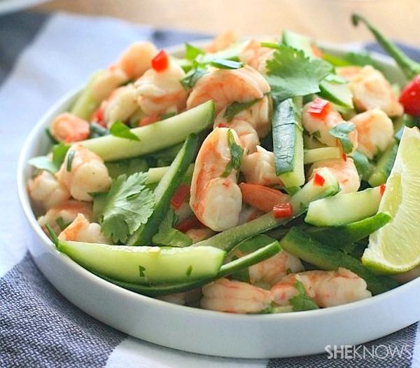 Burmese shrimp and cucumber salad recipe
