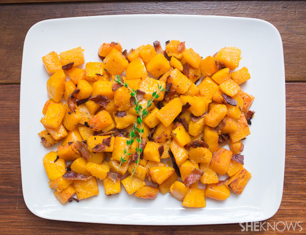 Caramelized butternut squash with bacon | SheKnows