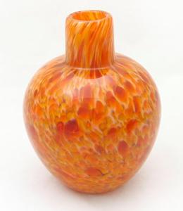 Butterscotch caramel handblown glass bud vase