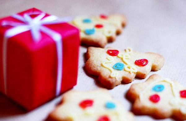 Christmas cookies with four ingredients or