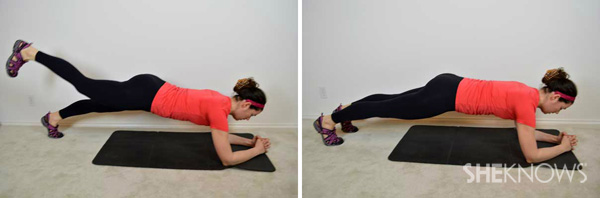 Plank with leg extension 2