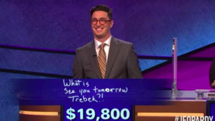 That hot guy from Jeopardy? Yeah,