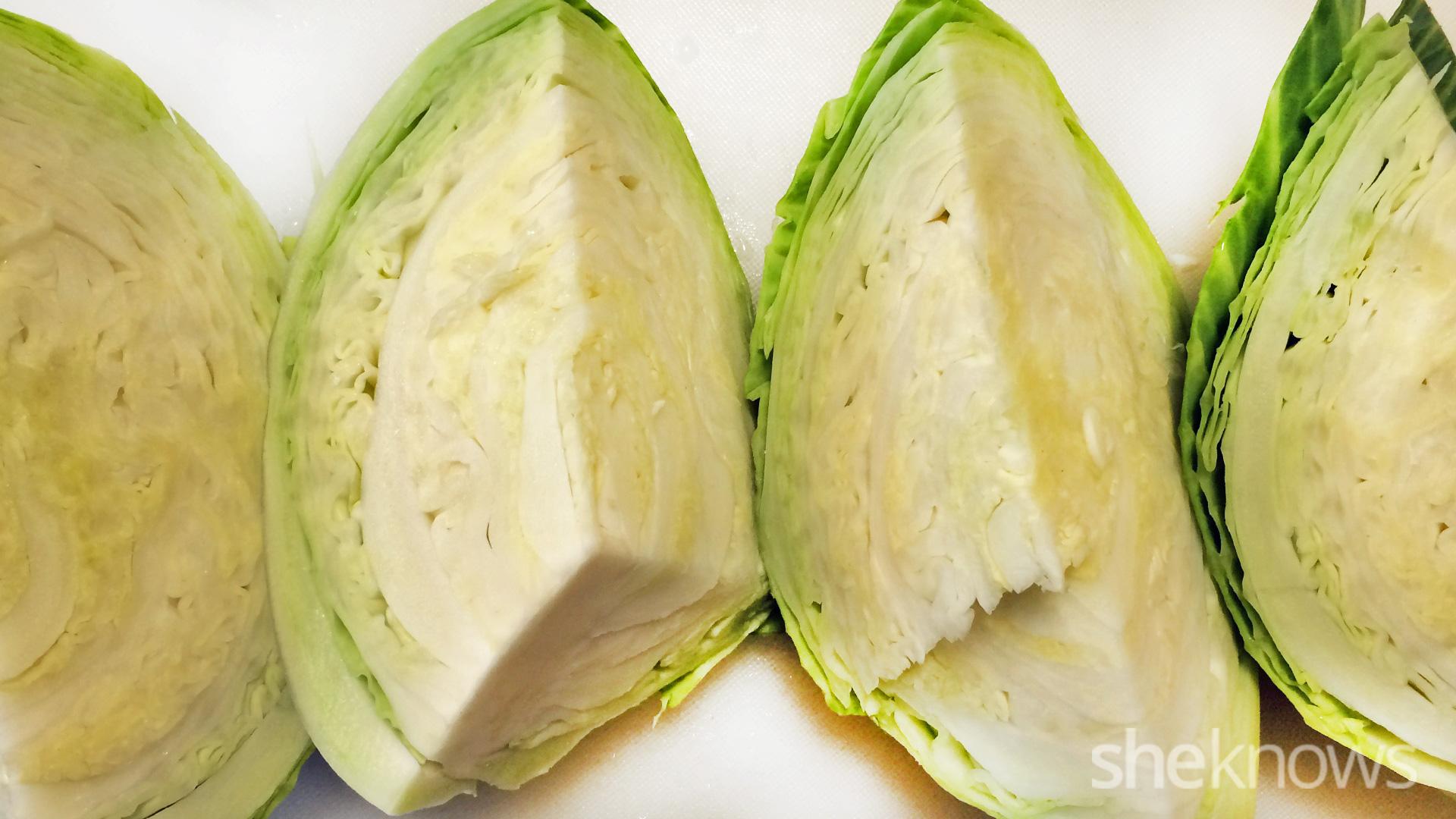quartered cabbage