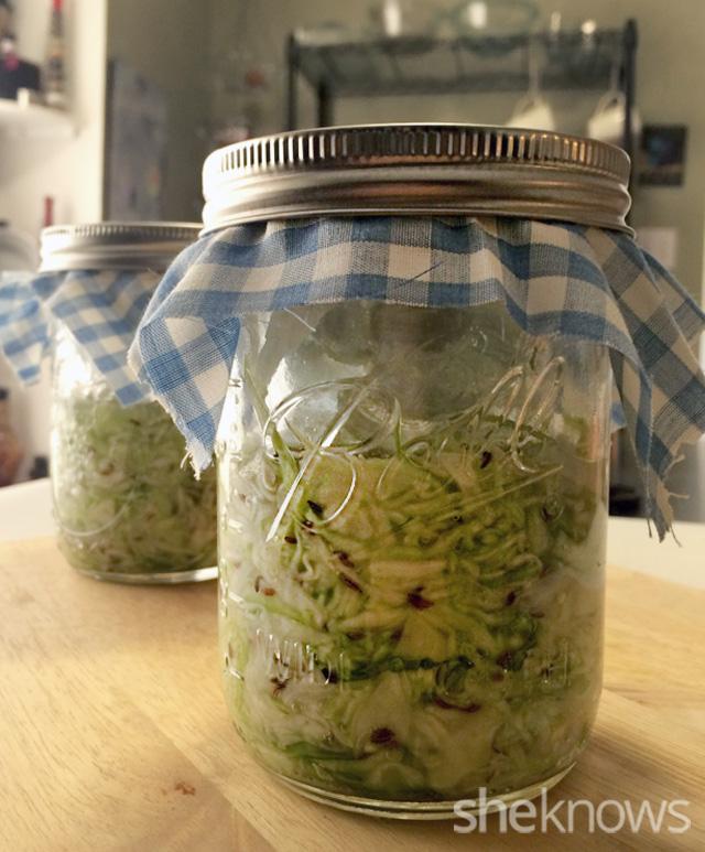 sauerkraut fermenting