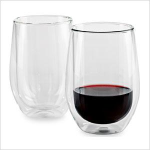 Insulated wine glasses
