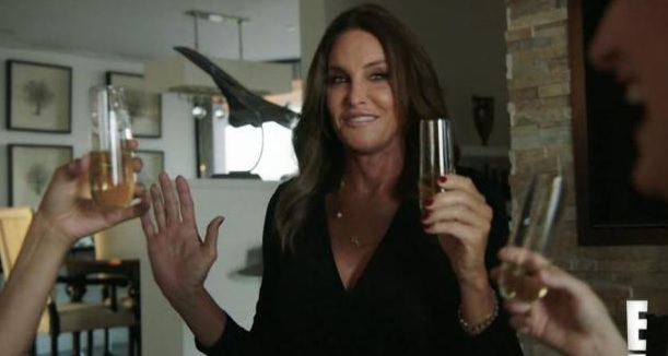 Caitlyn Jenner toasts with her friends