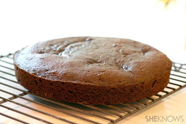 Cream filled mustache cake