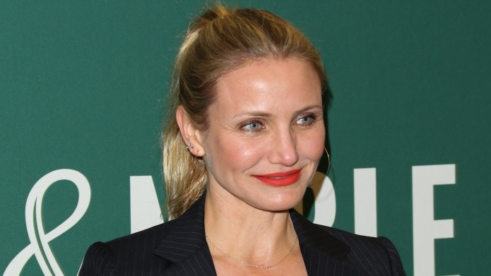 Actress Cameron Diaz signs copies of