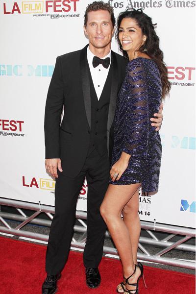 Pregnant Camila Alves and Matthew McConoughey
