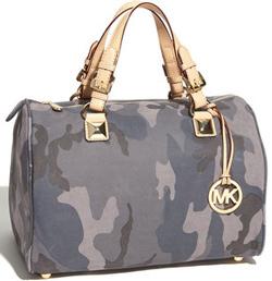 camouflage-patterned satchel