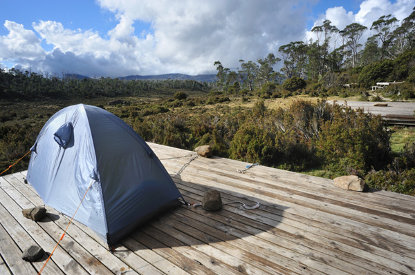 Kids camping in Tasmania