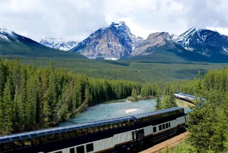 Train vacation in Canada