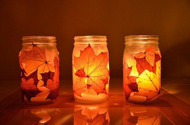 Fall Thanksgiving crafts for kids: autumn lanterns